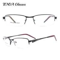 חצי חישוק מתכת גברים אופנה משקפיים מסגרות משקפיים מרשם לעדשות אופטיות