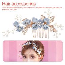 Silk  Flower Bride Headdress Beauty Wedding Hair Accessories Girl Ornament Korean