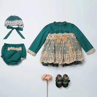2018 Vintage Girls Dress Long Sleeve Tutu Princess Dresses For Little Girls Costumes Elegant Kids Dress For Girls Autumn Clothes