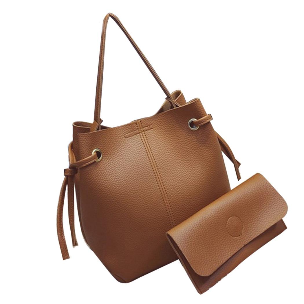 2 шт./компл. мода Композитный сумка Для женщин Повседневное Crossbody Курьерские сумки кожаные сумки женские Портфели сумка
