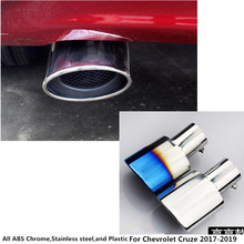 For Chevrolet Cruze 2017 2018 2019 car Styling cover muffler exterior end pipe outlet dedicate stainless steel exhaust tip tail