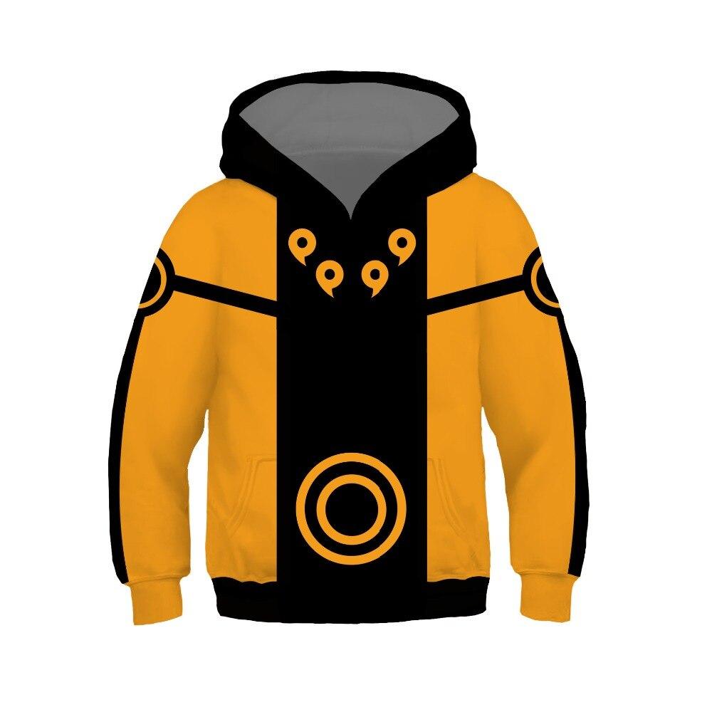 Kids Anime Nine tail Naruto Cosplay Costumes Hoodies Children Boys Girls Cartoon Naruto Pullover Sweatshirt Spring Tops