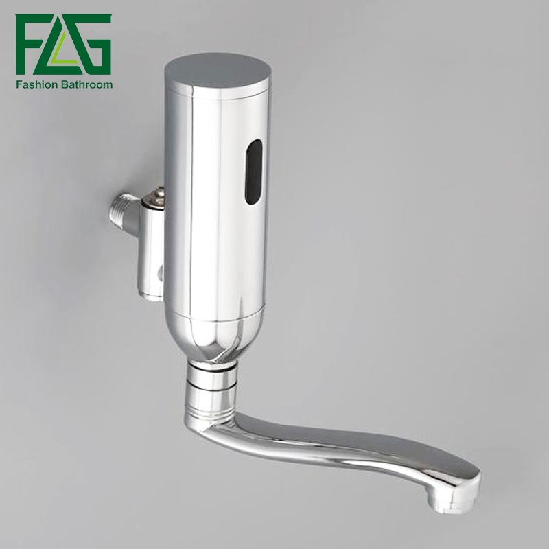 цены  Free Shipping on All Copper Into the Wall-mount Automatic Sensor Faucets Single Cold DC Intelligent Medical Hand-washing