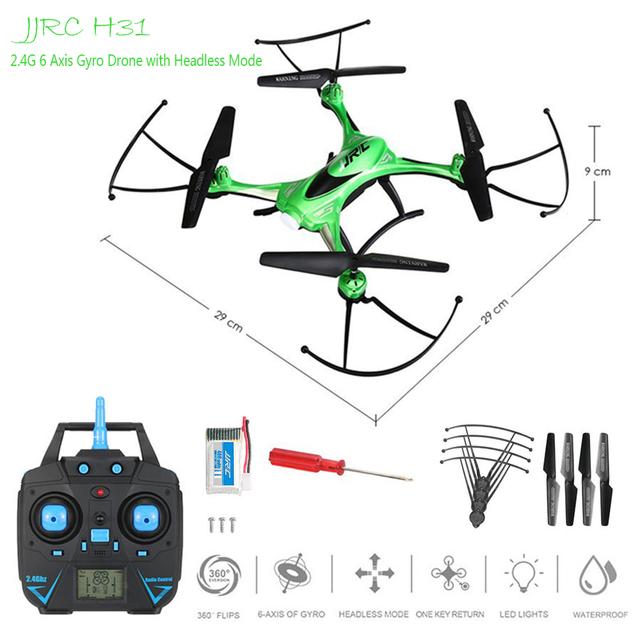 Drone jjrc h31 à prova d' água resistência à queda headless modo um retorno x5sw vs x5c quadcopter dron helicóptero do rc profissional