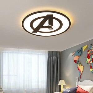 Image 4 - Modernas luzes de teto led para quarto estudo sala crianças rom casa deco preto/azul lâmpada do teto