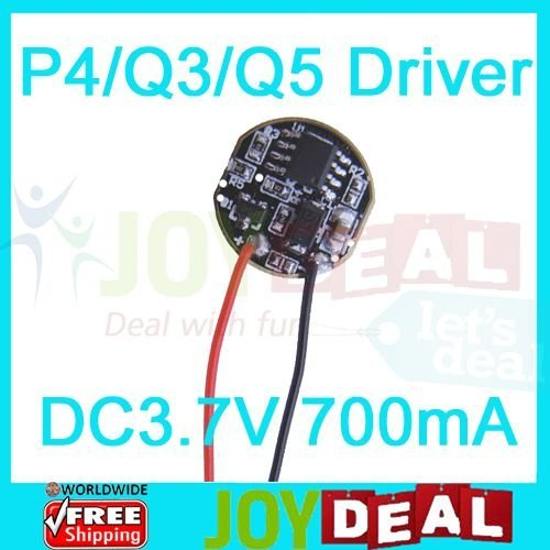 Led Drivers for Cree XR-E P4 Q3 Q5 3W High Power Led DC3.7V 700mA 5 Modes Dimmable