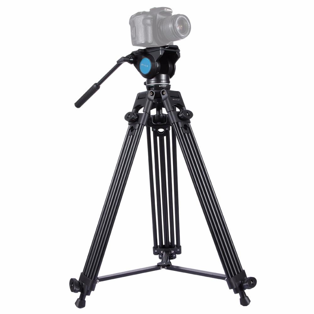 DSLR / SLR / 카메라 용 삼각대 헤드 헤비 듀티 카메라 액세서리 스탠드가있는 새로운 전문 비디오 카메라 캠코더 삼각대 키트
