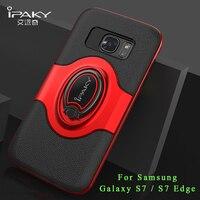 IPaky Coque For Samsung Galaxy S7 Edge Case Silicone Ring Holder Case For Samsung S7 Edge