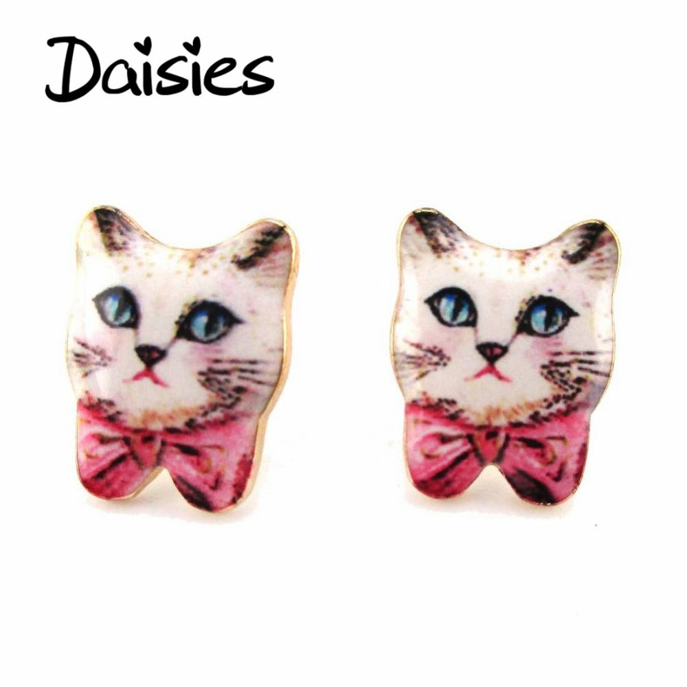 Earring Design Ideas earring design ideas 2017 apk screenshot Daisies New Arrivals 1 Pair Unique Design Handmade Lovely Cat Stud Earrings Women Statement Jewelry Pet Lovers Gifts Idea