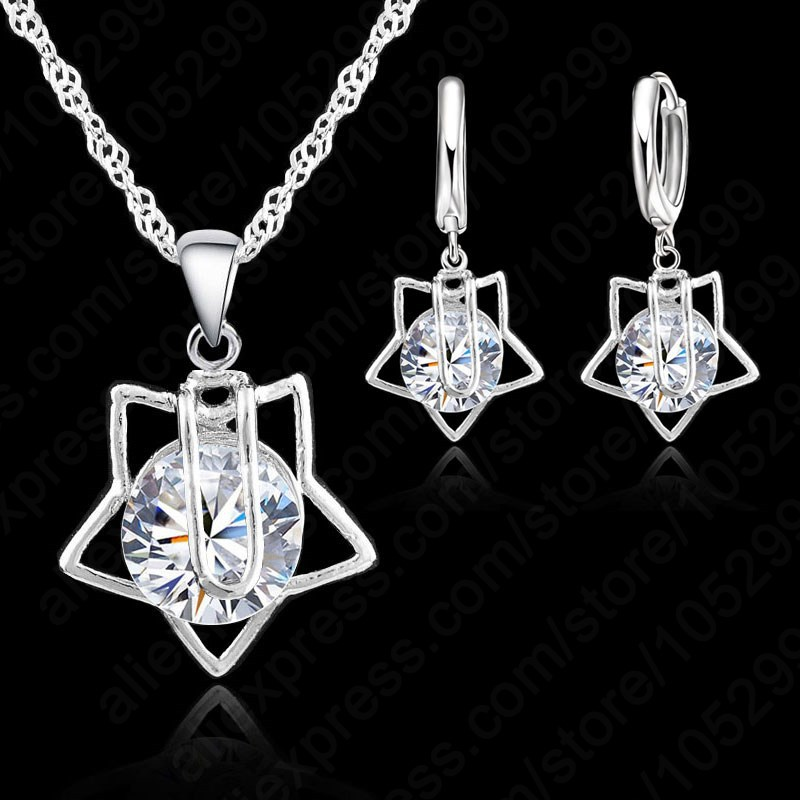 Star Pendant Jewelry Set...
