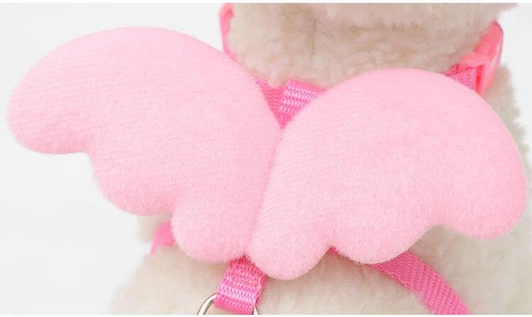 harnais fantaisie pour petit chien aile ange rose