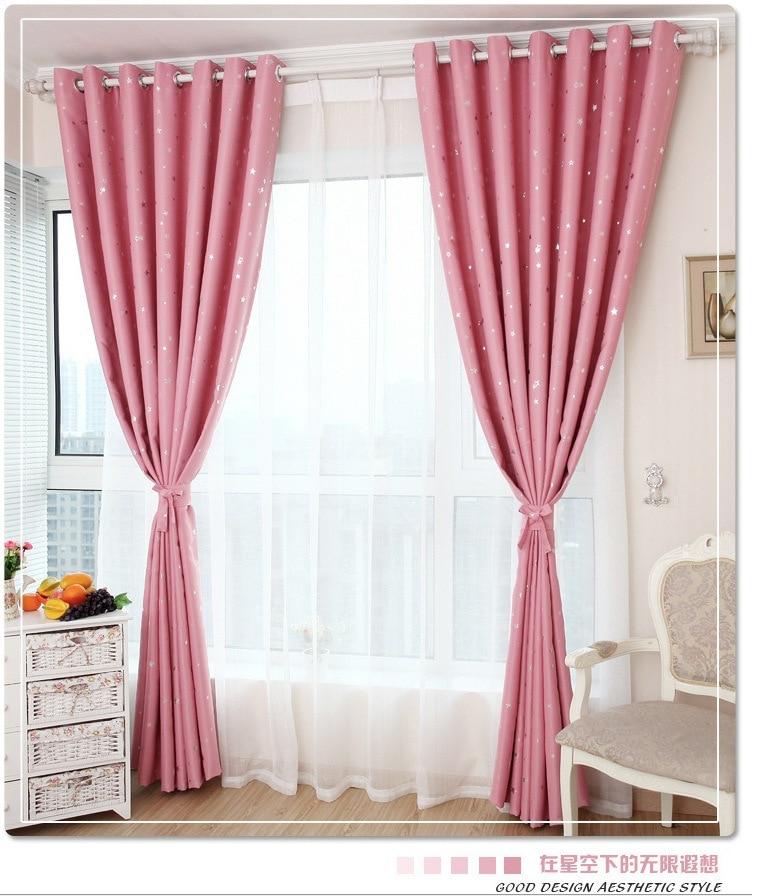 Modern Stars Blackout Window Curtains For Kids Boys Girls Bedding ...