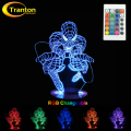 3D LED Lamp RGB Changeable Mood Lamp Super Hero Night Light DC5V USB Decorative Table Lamp.