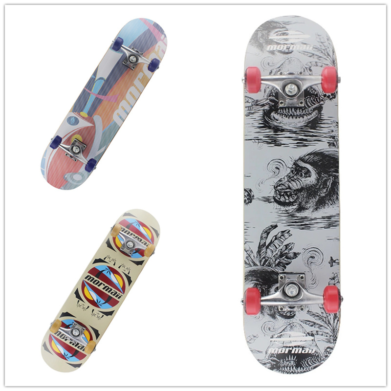 Maple Wood Four Wheel Professional wooden skateboards longboard drift skateboard ABEC-5 chrome steel bearings longboard 4 color 4 wheel electric skateboard single driver motor small fish plate wireless remote control longboard waveboard 15km h 120kg