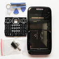 Brand New Housing Cover Case +Keypads For Nokia E72 Full Complete Housing Case +Tools Black Sliver Color Free Tracking No.