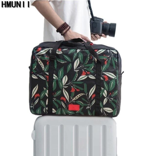 32a0c48b5313a HMUNII Człowiek Moda Kreatywne Opakowanie Cube Walizka kobiet Torby Podróżne  Bagaż Torba Duża Pojemność Duffle Torba
