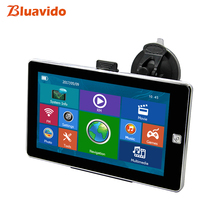 Buy Bluavido 7 inch Car Vehicle GPS Navigation Navitel latest Europe Map Sat nav with Multimedia FM Truck automobile gps navigator directly from merchant!