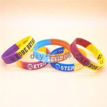 d32857863367 1pc segment Stephen Curry Kobe Bryant LeBron James Kyrie Irving basketball  star sport silicone rubber bracelet