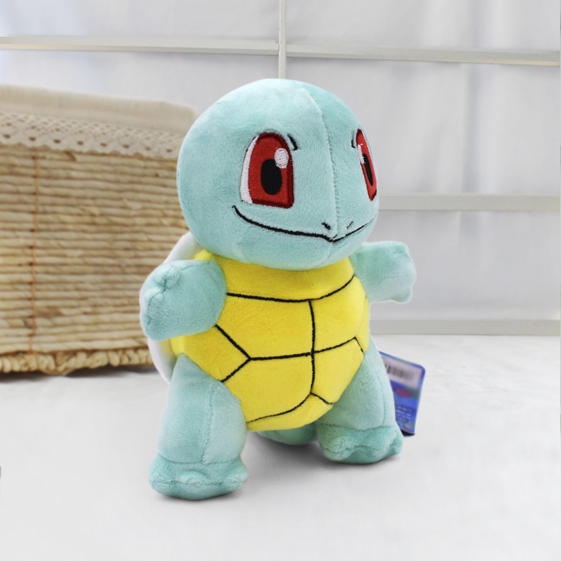 2018 Hot 7''18cm Squirtle Peluche Toys Kawaii Standing Squirtle Plush Toys Cartoon Anime Dolls Baby Toy Gift For Kids' Christmas