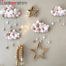 Купить с кэшбэком Lovely Baby Toys Soft Wall Pendants Cotton Clouds Drops Decorative Wall Hanging For Baby Nursery Room Decoration Nordic Style