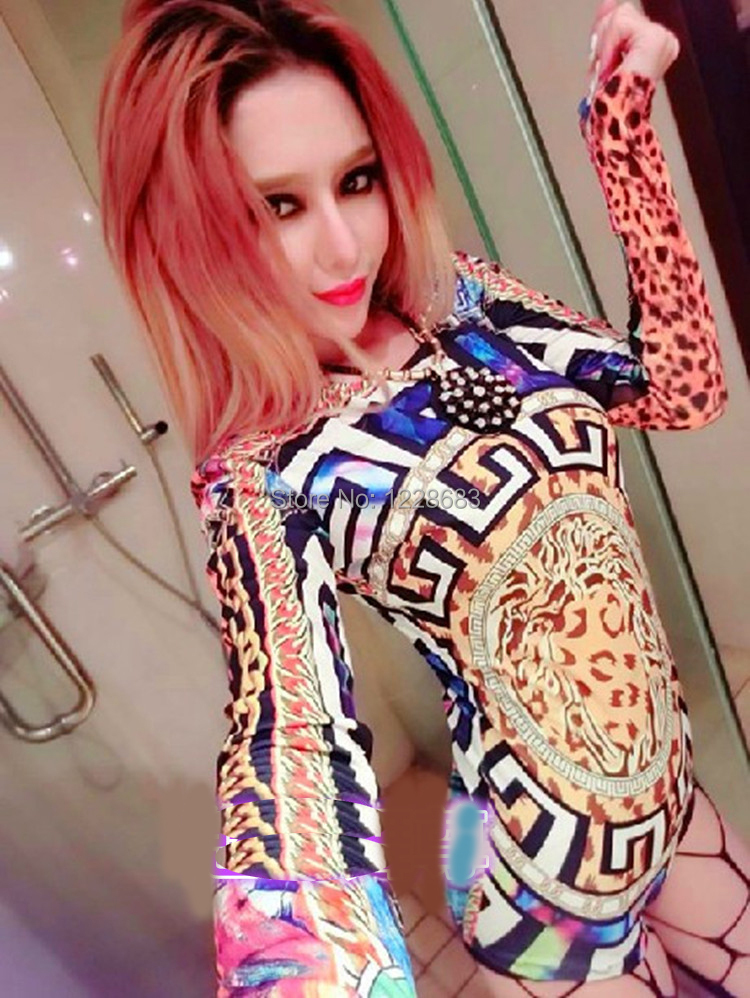 Free Shipping New Hot Sale Lady Women Hot Sexy Nightclub Leopard Singer Jazz Hip Hop Dance