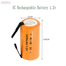 15pcs SC 3200MAH 1.2V rechargeable battery 4/5 Sub C ni-cd cell with welding tabs for electric drill screwdriver 3200