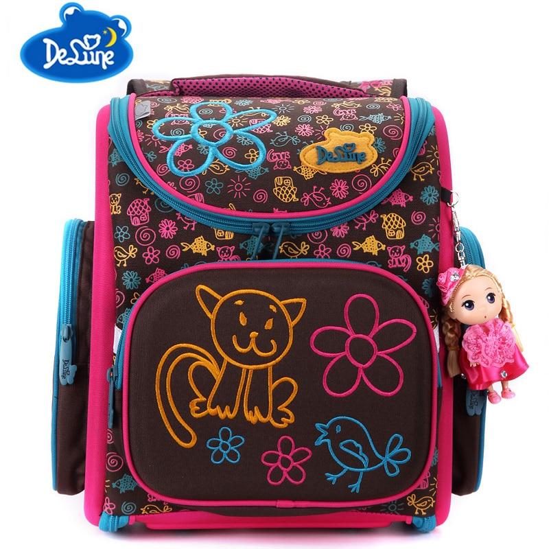 Russia famous brand Children Cartoon animal School Bags for girls Backpack Mochila Infantil Large Capacity Orthopedic Schoolbag