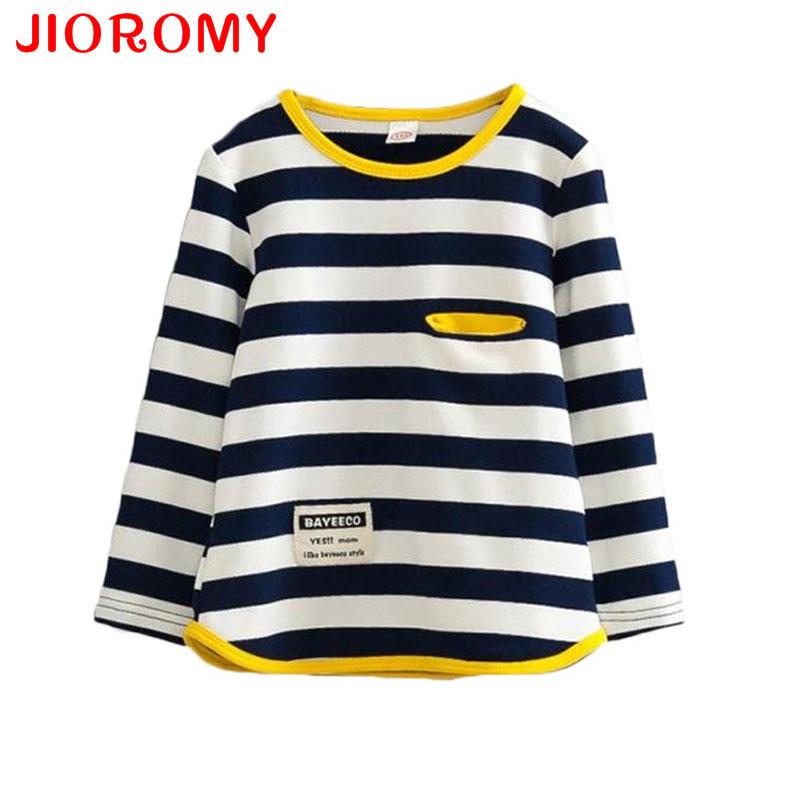 Spring Autumn Long Sleeve T-shirt for Girls Stripe Boys Shirts Children Tops Childrens Sweatshirts Baby Clothing Tees
