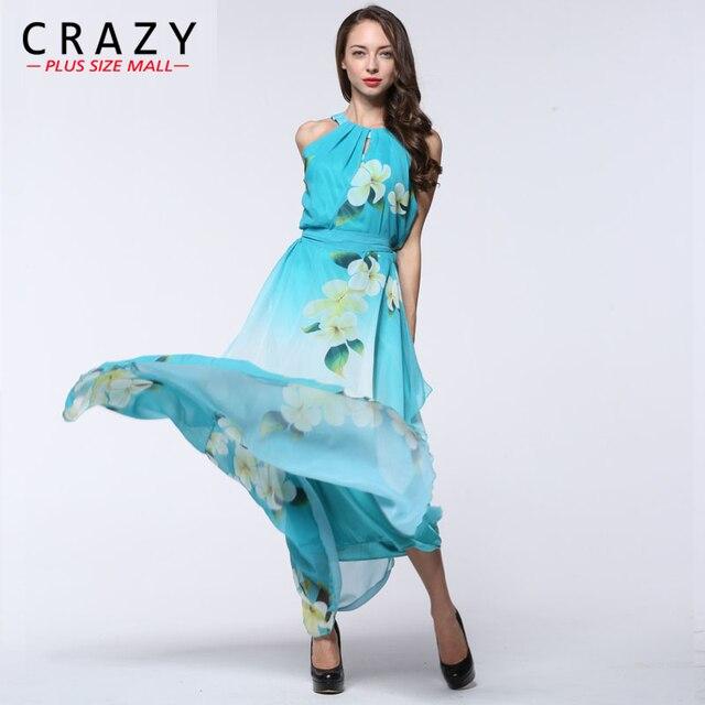 Women Dress Plus Size 6l Long Maxi Dress L-7XL 2018 Summer Beach Dresses  Elegant Ladies Chiffon Dress 7XL 6XL 5XL 4XL 9026 1d13ac3f465a