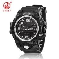 S SHOCK 2016 New OHSEN Luxury Brand Men Military Sports Watches Digital LED Quartz Wristwatches Rubber