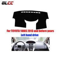 Car Dashboard Covers For Toyota Yaris Before To 2013 Years Automobile Dashmat Left Hand Driver Car