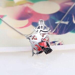 Image 4 - CLUCI 3 adet cadılar bayramı 925 ayar gümüş uçan süpürge cadı kafes kolye kadınlar için takı gerçek gümüş 925 inci madalyon SC322SB