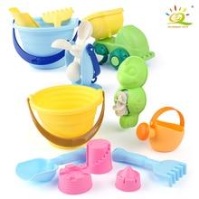 Baby Soft Beach Leksaker Set Classic Plast Spela Sand Skopor Lastbilar Bil Barn Trädgård Sommar Vattning Kustbad Toy För Barn