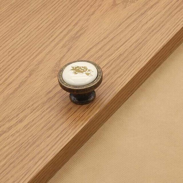 Cerámica de la manija del cajón del gabinete de cocina pomo pomo ...