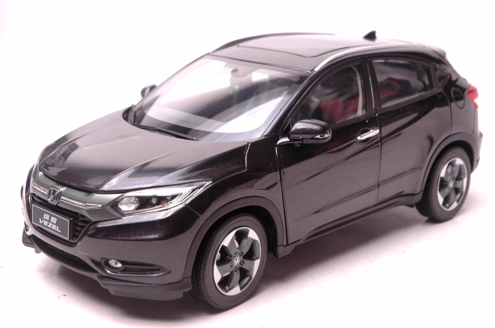 1:18 Diecast Model for Honda Vezel HR-V 2014 Black SUV Alloy Toy Car Miniature Collection Gifts HRV HR V колонка ibest hr 800 black