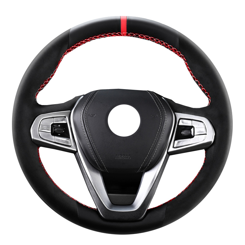 KUNBABY Car Styling Genuine Leather Car Steering Wheel Cover for <font><b>BMW</b></font> <font><b>G30</b></font> <font><b>530i</b></font> 540i 520d 530e 2016-2018 G32 GT 630i 630d G01 X3 image