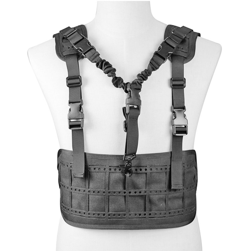 TACTIFANS Ultra Light Laser Cut MOLLE Chest Rig Pals System Military Equipment Tactical Ultra Light Tactical Vest ultra light кт008с синий