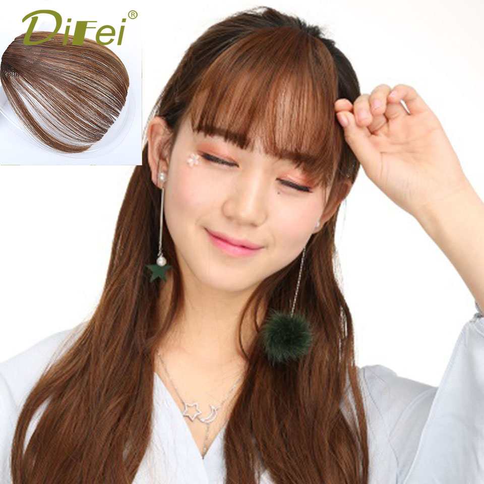 DIFEI Air Bangs Female Synthetic 3 Colors High Temperature Fiber Wig Bangs Women Bangs