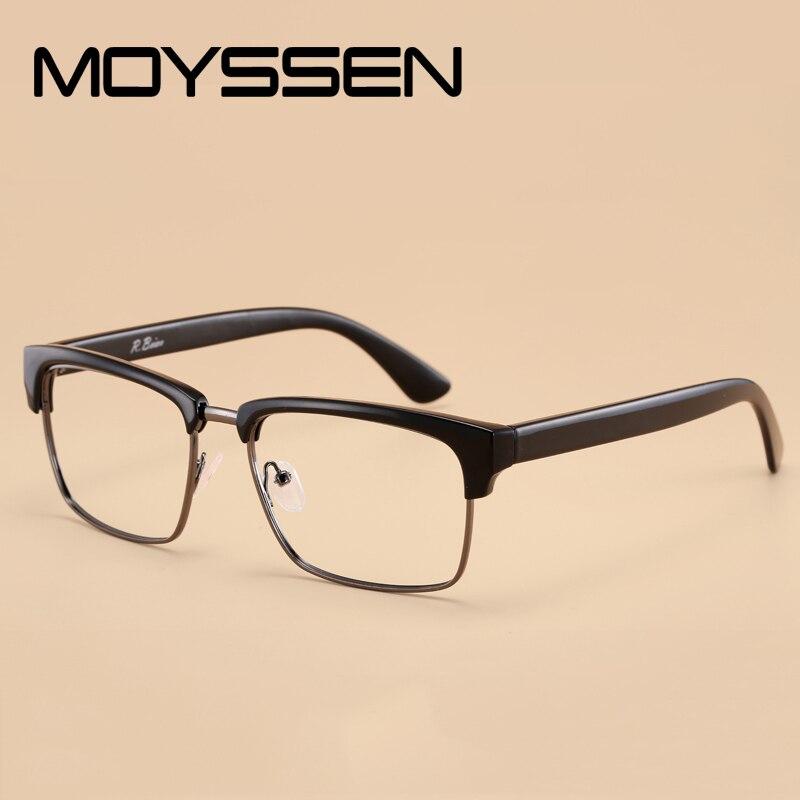 a42977682643 MOYSSEN Men s Big Square TR90 Frame Eyeglasses Brand Design Eyebrow  Oversized Classic Optical Prescription Glasses Lunettes de