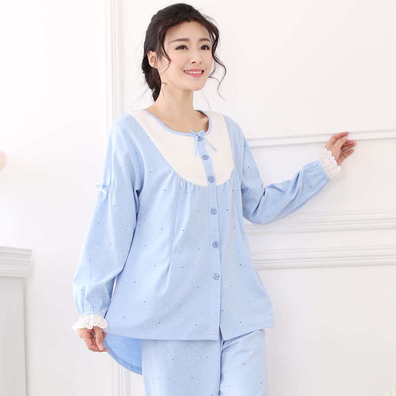 2017 summer nightgown pajamas are pregnant or nursing maternity nursing service cotton prenatal and postpartum confinement - Prenatal Nurse