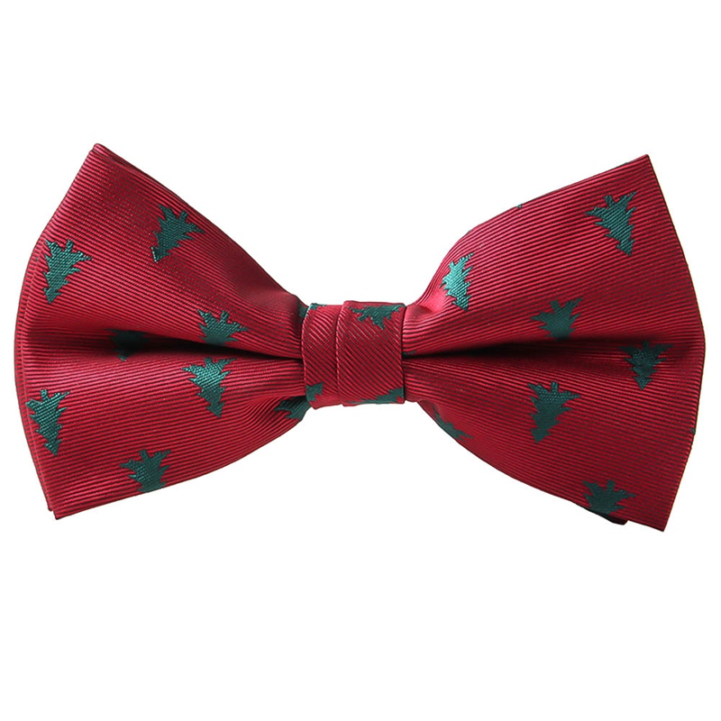 Christmas Bow Tie Men's Fashion Black Bowtie Red For