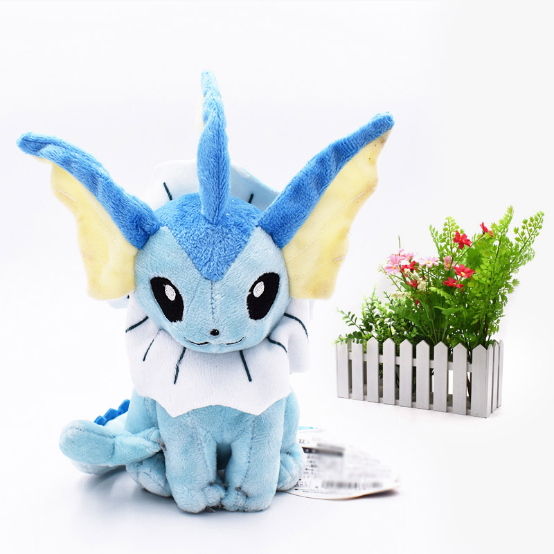 <font><b>20</b></font> <font><b>cm</b></font> Anime Doll Sitting Vaporeon Japanese Animal Stuffed <font><b>Peluche</b></font> Plush Quality Cartoon Toys Great Gift For Children image