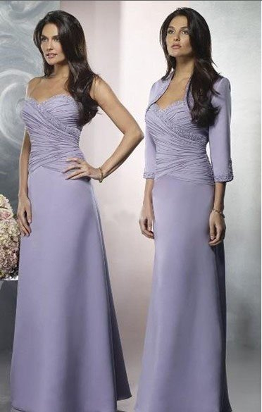 2011Free Shipping,Wholesale Price,New Wedding/Prom/Mother of the bride Dress,Long Sleeve Floor-lenght,Purple Coat Dress MD106