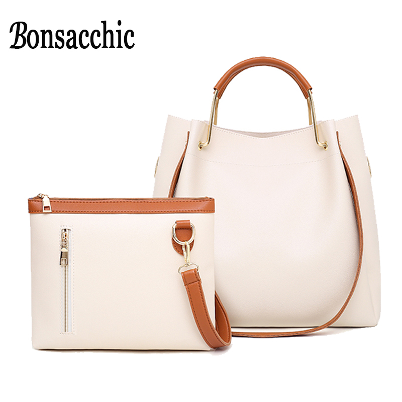Bonsacchic Beige Bucket Bag Ladies Leather Handbags Luxury Handbags Women Bags Designer Shoulder Bag Female Sac A Main FemmeBonsacchic Beige Bucket Bag Ladies Leather Handbags Luxury Handbags Women Bags Designer Shoulder Bag Female Sac A Main Femme