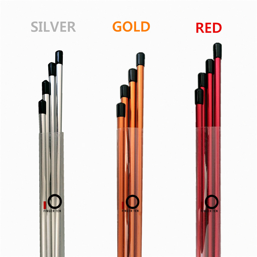 Golf Alignment Stick Metalline 100% Vertical Injection Aluminous AL Alloy Splicing Golf Alignment Sticks 3 Colors Finger Ten