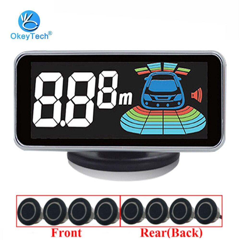 OkeyTech Best 8 czujniki czujnik parkowania samochodu Auto radar cofania parkowanie samochodowa detektor asystent parkowania czujnik parkowania Alarm