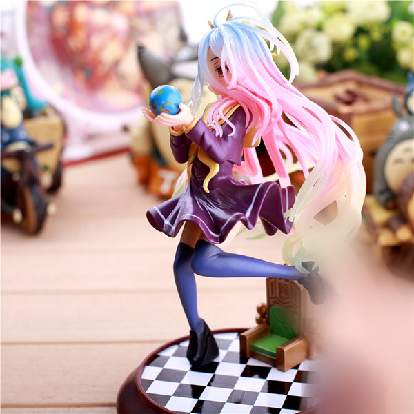 20cm Anime figure Life No Game No Life Shiro Game of Life Painted second generation Game of Life 1/7 PVC action figure model 1