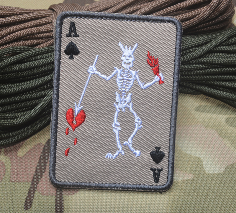 Spade A Armband Vikings V Word Vendetta Military Army Tactical Morale Embroidery Patches For Clothes Clothing Badges in Patches from Home Garden
