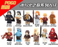 12 Unids MOC Daenerys Targryen Por Encargo Juego de Tronos de Hielo y Fuego Series Building Block Eductaional Juguetes de Aprendizaje