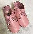 2016 nuevos niños del otoño preal botas de princesa niñas bebés zapatos para niños de la marca de cuero genuino botas de color rosa niño tobillo botas
